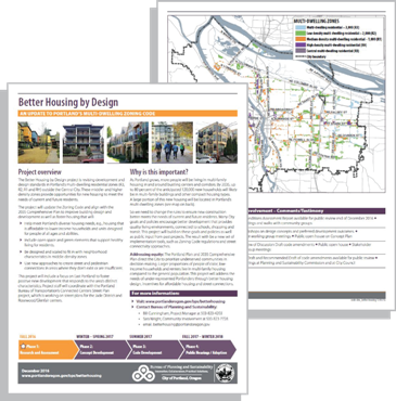Informational handout on Better Housing by Design project