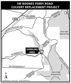 Boones Ferry map  culvert replacement project