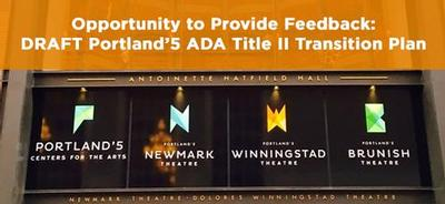 Graphic of ADA Title II Transition signage.
