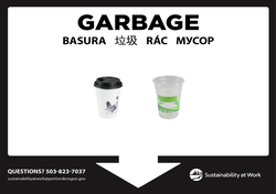 Customized garbage poster