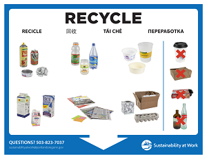 Mixed Recycling poster