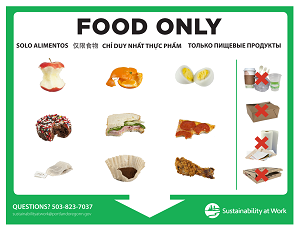 Food Only (compost) poster