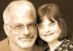 Father and his daughter smiling photograph