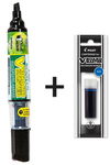 Refillable dry erase marker and refill
