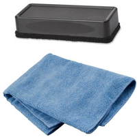 Whiteboard eraser and microfiber cloth