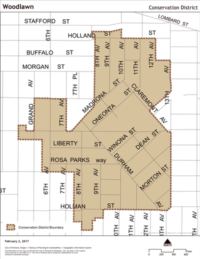 Map of Woodlawn Conservation District