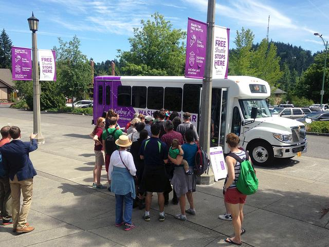 The FREE Explore Washington Park shuttle runs throughout the park during the peak warm-weather visitor season.
