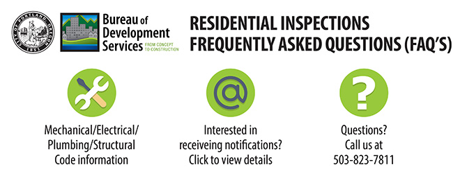 Residential Inspections FAQs