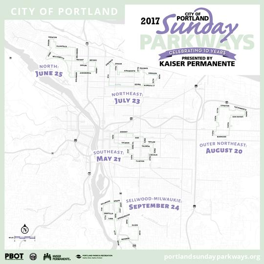 Sunday Parkways Routes 2017