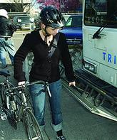 Learn how to load your bike on transit