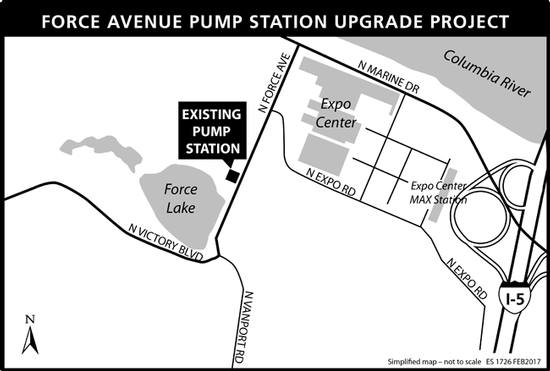 Force Avenue Pump Station Project Map