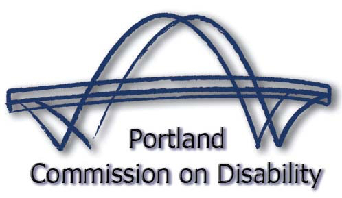 Graphic logo for Commission on Disability.