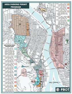 Portland Oregon Map Of Neighborhoods.Area Permit Parking Zone Information And Permit Instructions Area