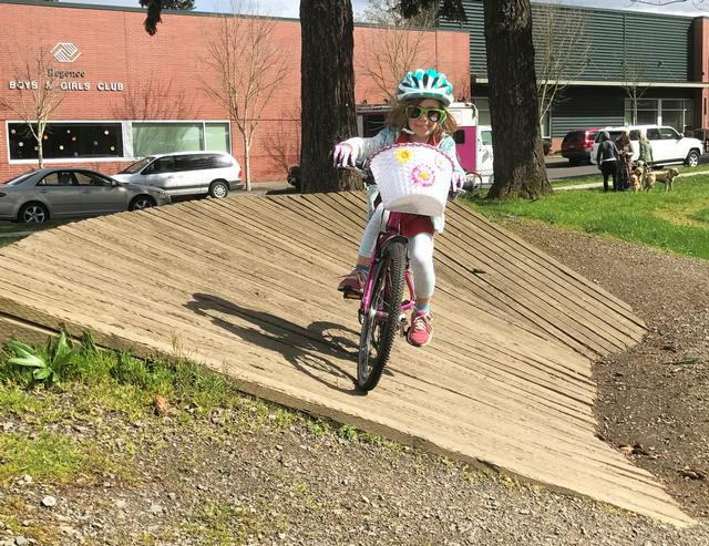 Kids on bikes at New Columbia bike park