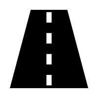 Icon for transportation audits: road