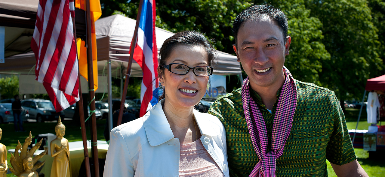 New Year in the Park founder Saron Khut (right)