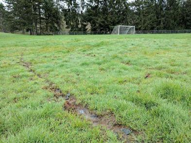 Unplayable field conditions persist at parts of Gabriel Park.