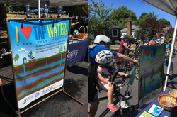 Water Bureau booth at Sunday Parkways