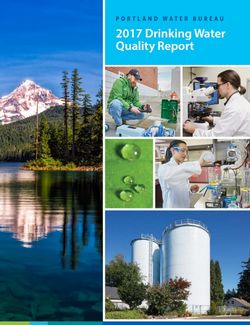 Cover of the 2017 Drinking Water Quality Report