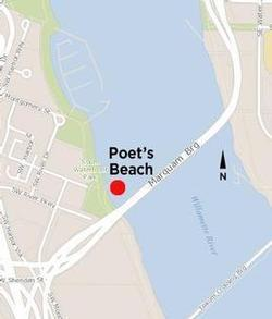 Map of Poet's Beach