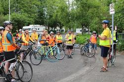 Cycle the Well Field cyclists learn about groundwater