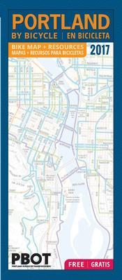 Cover of Portland By Bicycle map