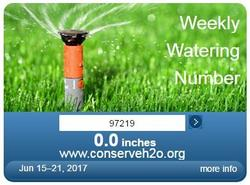 Weekly Watering Number tool