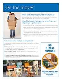 Image of On the Move flyer