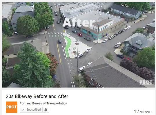 Before and After Video of 20s Bikeway