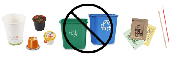 Things that are not compostable or recyclable