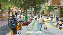 artist rendering of Green Loop streetscape