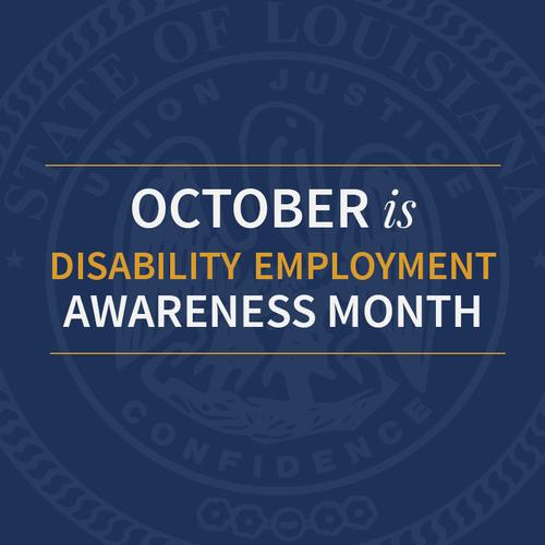 Disability Employment Awareness Month graphic