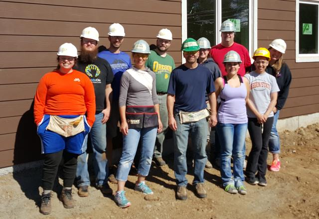 Volunteering with Habitat for Humanity