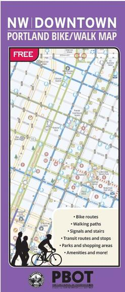 NW Downtown Portland Bike Walk Map cover