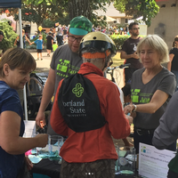 PedPDX CAC members volunteering at Sunday Parkways