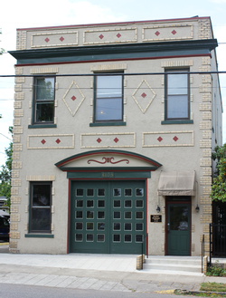 Kenton Firehouse, a local historic landmark in a conservation district.