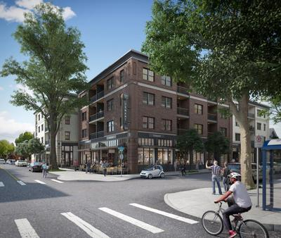 Among their many recent approvals, the Historic Landmarks Commission supported an infill project that will add 60 new housing units to the Alphabet Historic District. Rendering courtesy Atomic Sky and Emerick Architects.