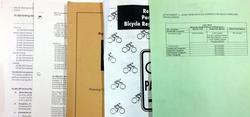 photo of bicycle parking code documents