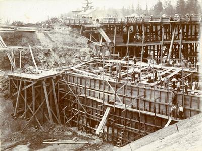 1894 Washington Park Reservoir construction