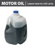 Motor oil in accepted, sealed container