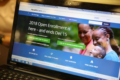 2018 Open Enrollment Deadline on computer screen
