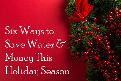 How to conserve water during the holiday