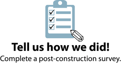Link to post construction survey