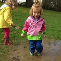 Puddles to jump in at Pendleton Park