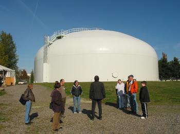 Tour of groundwater facility