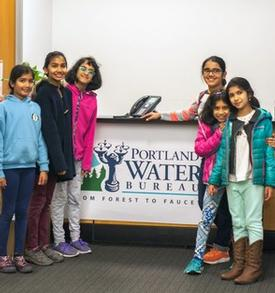 LEGO students visit the Water Bureau