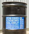Used cooking oil can