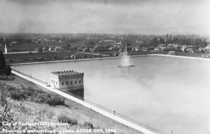 Mt. Tabor Reservoir Historical Photo