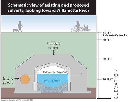 schematic diagram of the new culvert