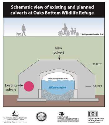 Schematic view Oaks Bottom culvert replacement